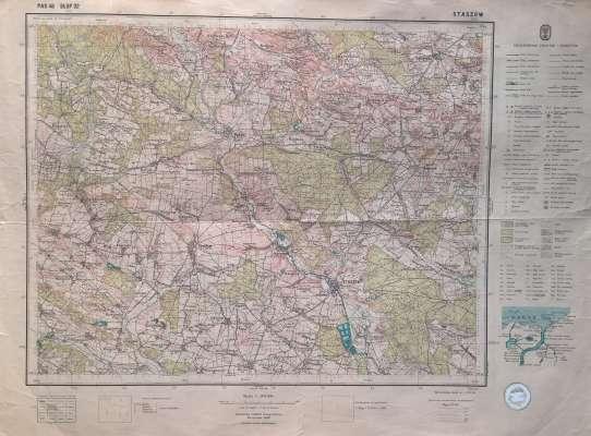 Staszow Pas 46 Slup 32 Mapa Topograficzna W Skali 1 100 000